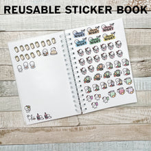 Ghost Town Sticker Album and Reusable Sticker Book