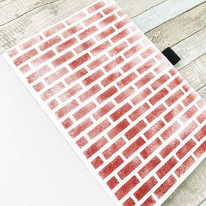 Brick Wall Full Page Stencil