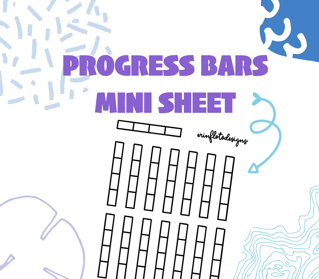 Goal Setting Progress Bars
