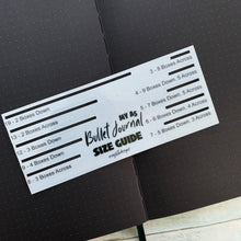 Bullet Journal Size Guide Stencil - S10
