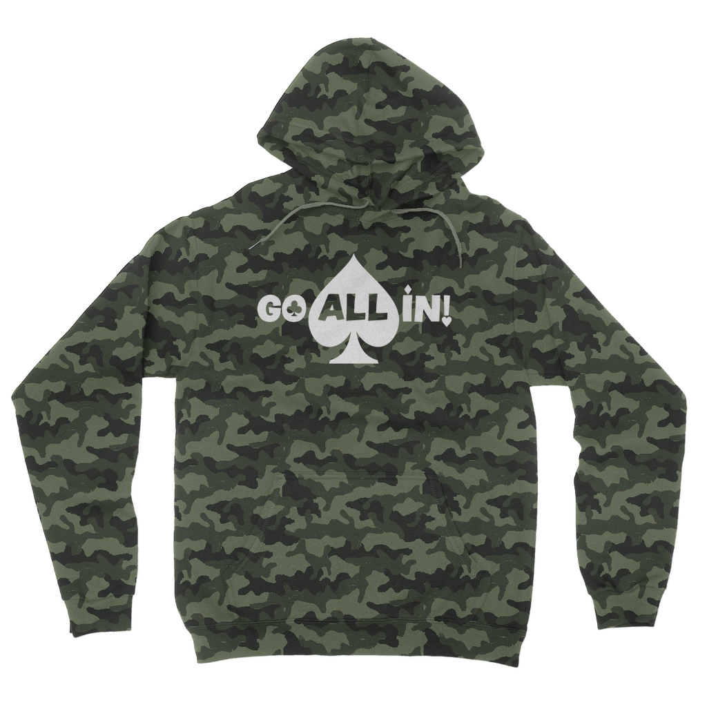 Go All In! Logo Camo Performance Soft Hoodie