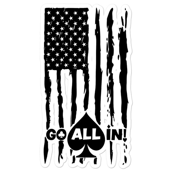 Go All In Flag Logo Vinyl Sticker