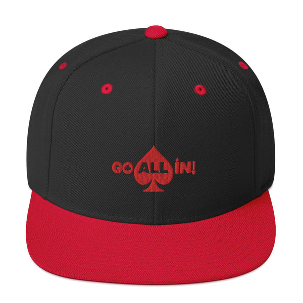 Go All In Logo Red Snapback Hat