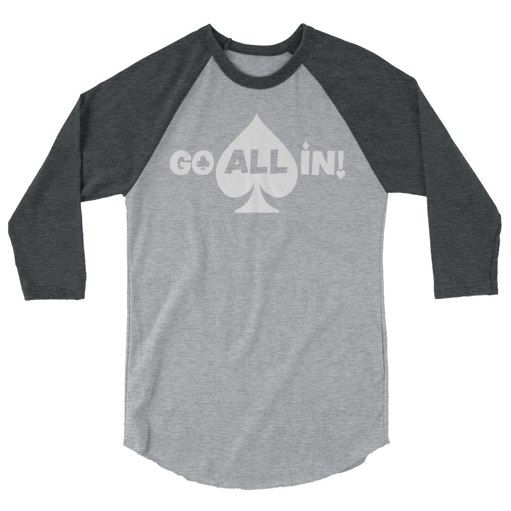 Go All In Logo Womens 3/4 sleeve Shirt