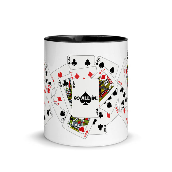 Go All In Playing Cards Poker Mug