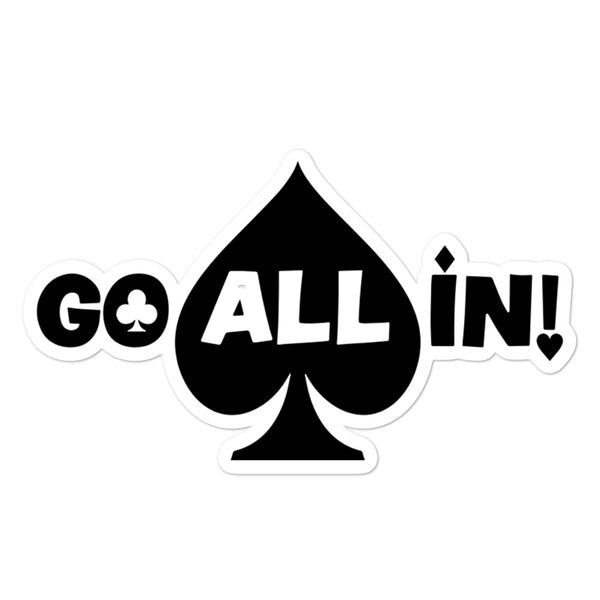Go All In! Logo Sticker