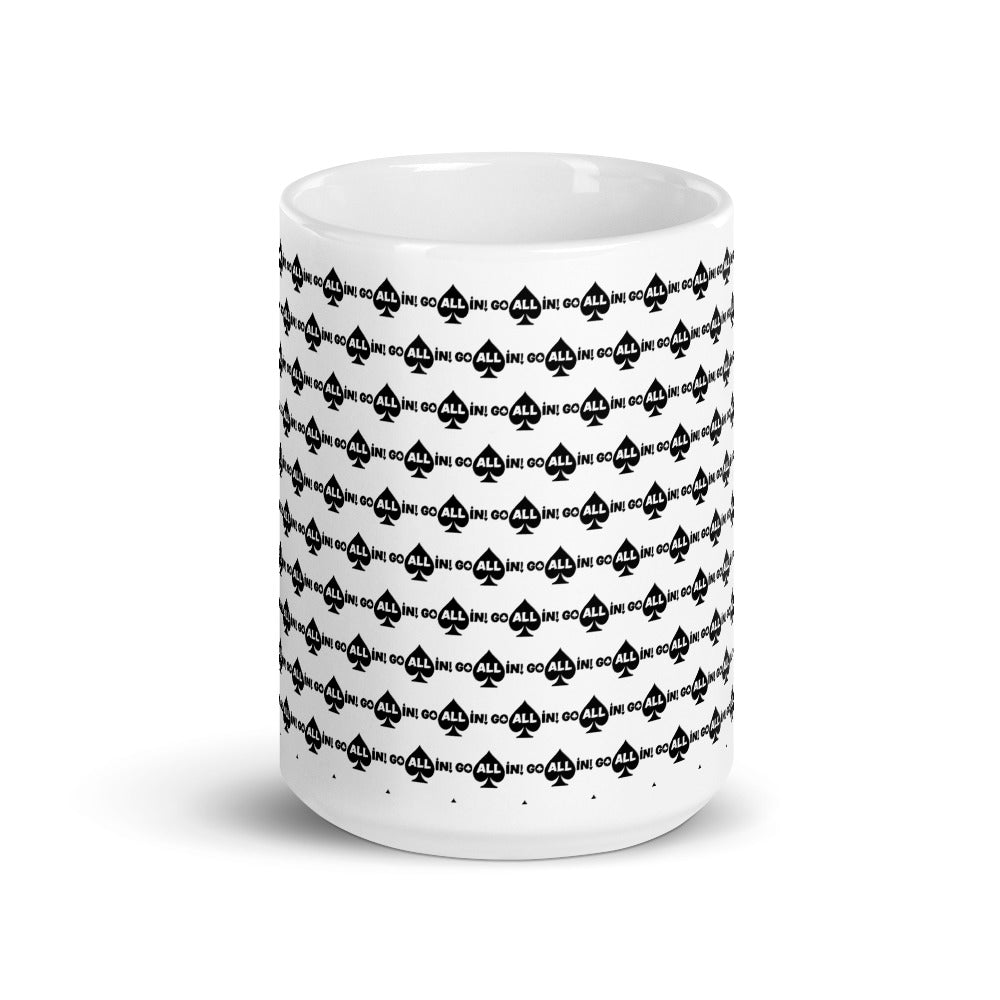 Go All In Black Logo Mug