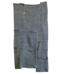 A Pair of Reverisble Edo Komon Silk Pieces: Stitched Chirimen
