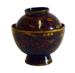 An Elaborately Decorated Lidded Lacquer Bowl #3: Edo Period