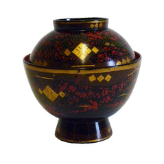 An Elaborately Decorated Lidded Lacquer Bowl #4: Edo Period