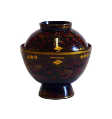 An Elaborately Decorated Lidded Lacquer Bowl #5: Edo Period