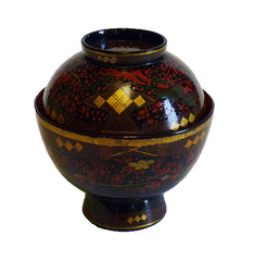 An Elaborately Decorated Lidded Lacquer Bowl #6: Edo Period