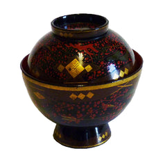 An Elaborately Decorated Lidded Lacquer Bowl #7: Edo Period
