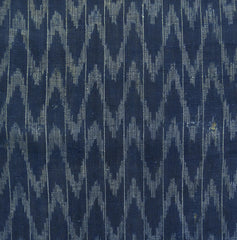 A Length of Indigo Dyed Kasuri Hemp Cloth: Arrow Feather Motif