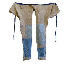 A Pair of Beautifully Boro Hemp Momohiki: Asagi Patches