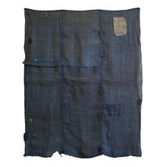 A Pieced and Patched Asa Cloth: Edo Komon Patch