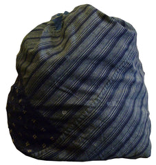 An Oversized Piece Constructed Drawstring Bag: Hand Loomed Cottons