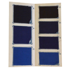 A Folio of Commerical Indigo Samples: Dyed Cottons