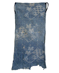 A Faded and Abraded Sashiko Stitched Zokin: Kasuri