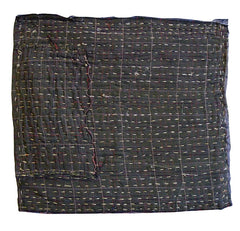 A Large Brown Patched Zokin: Boro and Sashiko