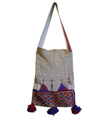 "A Large ""Boro"" Indian Cotton Bag: Embroidery and Recycling"
