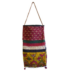 A Delightful Cotton Indian Bag: Tiny Cowrie Shells