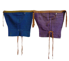 A Pair of Botanically Dyed 19th Century Leg Protectors: Gorgeous Color