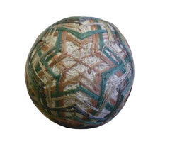 A 19th Century Cotton and Silk FlossTemari: A Gift Ball