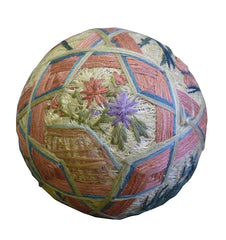 A 19th Century Temari: A Gift Ball with a Rice Grain Rattle Center