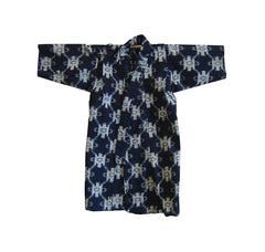A Child's Cotton Kasuri Kimono: End Bolt Lining