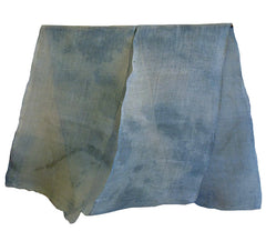 A Beautifully Faded Length of Hemp Kaya: Pale, Mottled Blues