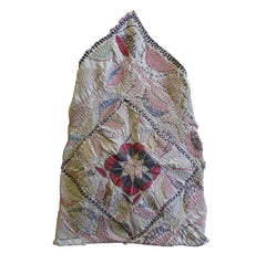 A Small Kantha Bag: Folk Embroidery from West Bengal