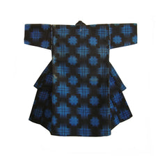 A Child's Cotton Flannel Kimono: Printed Plaid