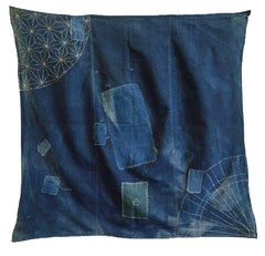 A Really Gorgeous Small Boro Furoshiki: Sashiko Stitching
