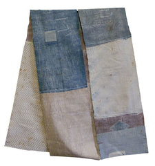 A Long Pieced Boro Cloth: Sizing Covered and Glued Patches