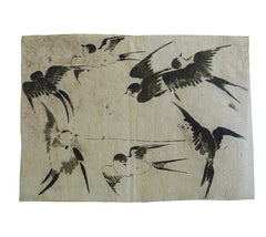 A 19th Century Depiction of Swallows #1: Hand Painted