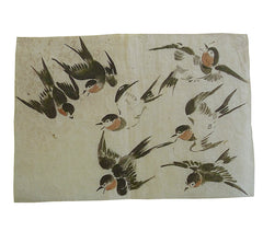 A 19th Century Depiction of Swallows #2: Hand Painted