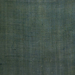 A Long Piece of Overdyed Hemp Kaya: Green Colored Netting