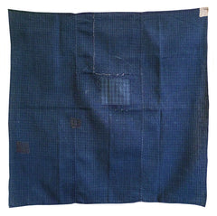 A Very Handsome Cotton Furoshiki: Home Spun Cotton and Patches