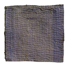A Faded Purple Cotton Zokin: Hemp Stitching