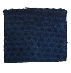 A Fragment of Indigo Dyed Cotton: Itajime or Kyoukechi Dyeing