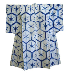 A Beautiful Itajime Yukata: Indigo Dyed Cotton