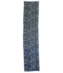 A Length of Large Scale Katazome: Blue on White Peonies