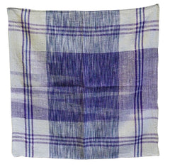 An Indian Khadi Cotton Square #1: Hand Spun and Hand Woven