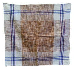 An Indian Khadi Cotton Square #2: Hand Spun and Hand Woven