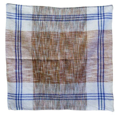 An Indian Khadi Cotton Square #3: Hand Spun and Hand Woven