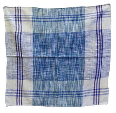 An Indian Khadi Cotton Square #6: Hand Spun and Hand Woven