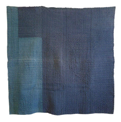 A Very Heavily Sashiko Stitched Kotatsu Cover: Layered Cotton
