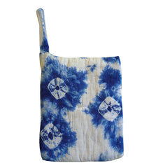 A Kumo Shibori Mini Zabuton: Padded Cushion