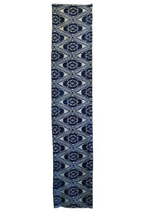 A Length of Large Scale Jishiro Katazome: Blue on White